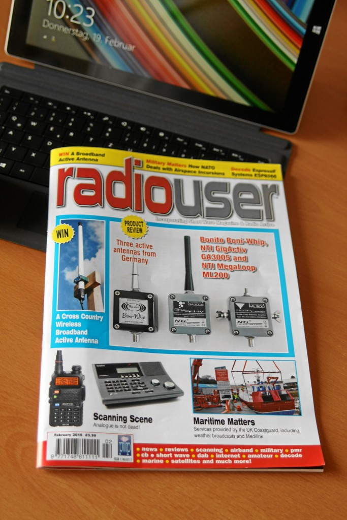 Bonito active Antennas in RadioUser Magazine