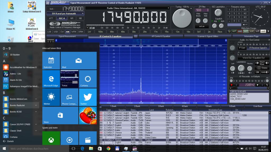 RadioJet Software unter Windows 10